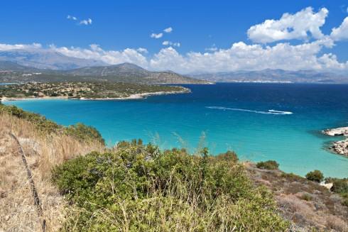 Kreta har turkist vann, lange sandstrender og vakker natur