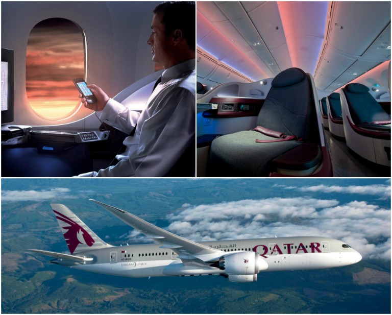 Qatar Airways-kampanj i business class
