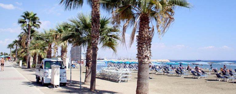 Strandpromenaden i Larnaca