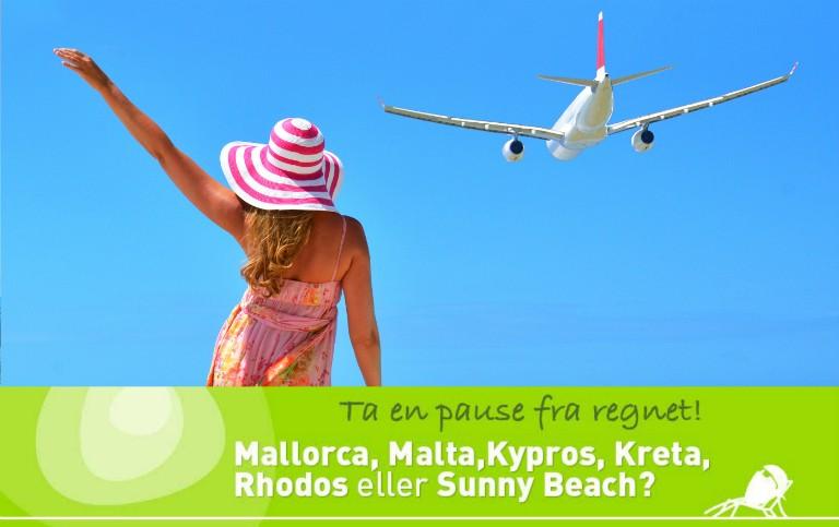 Reis til solen etter skolestart - billige reiser i august og september