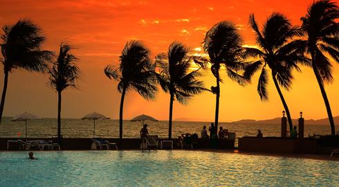 Solnedgang - Sharm el Sheikh -Egypten - amisol