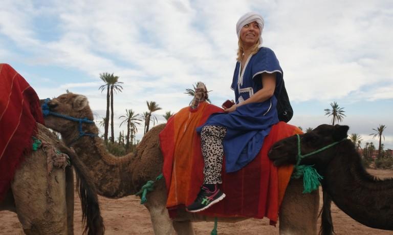 Anette til Marrakech med Sunny