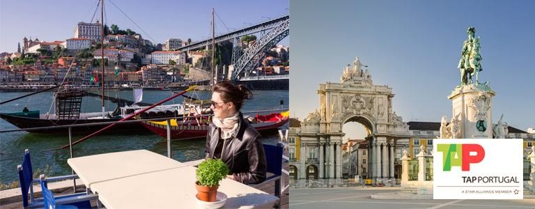 Vind flybilletter for 2 til Lissabon