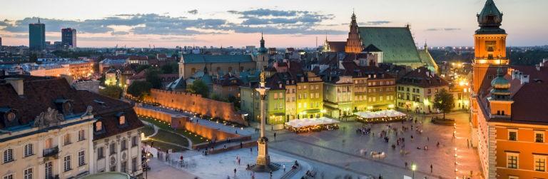 Billigaste resorna till Polen från hela Sverige