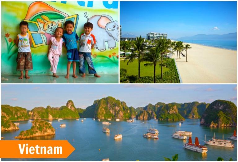 Vennlige og vakre Vietnam