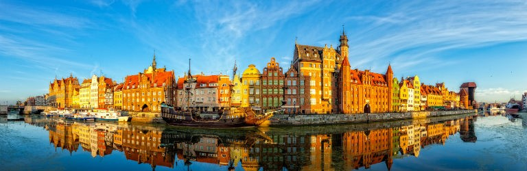 Billigaste resorna till Gdansk från hela Sverige