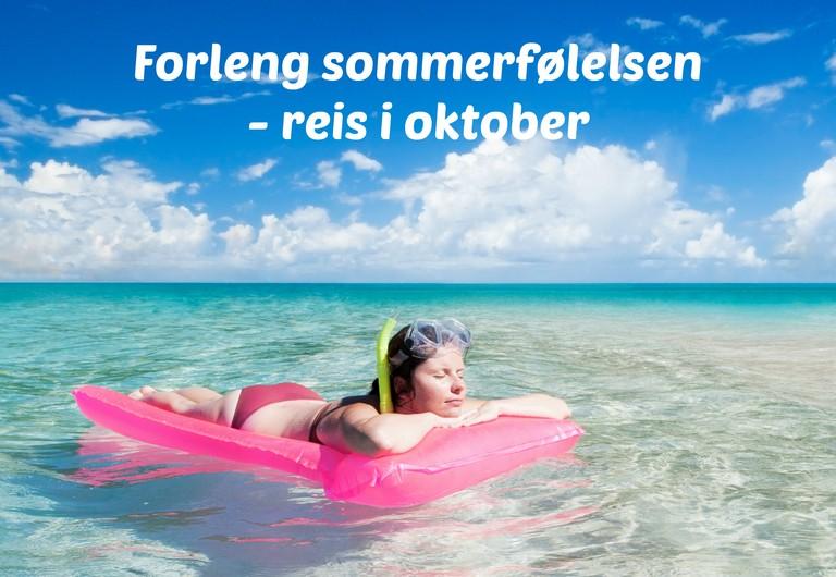 Beste priser på sydenreiser i oktober fra 13 norske flyplasser