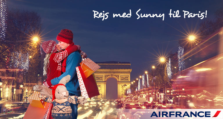 Med Air France og Sunny til Paris