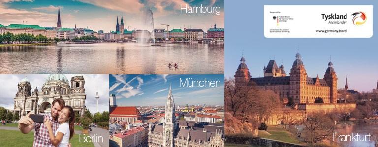 Storbyferie Berlin, Frankfurt, Hamburg,Munchen, Lübeck og Köln