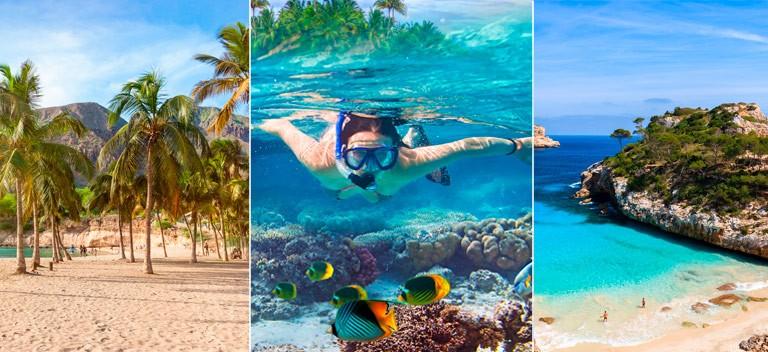 Paradisøer: Der findes mange smukke øer at vælge imellem, for familier som planlægger en badeferie.  Her er tre af dem.