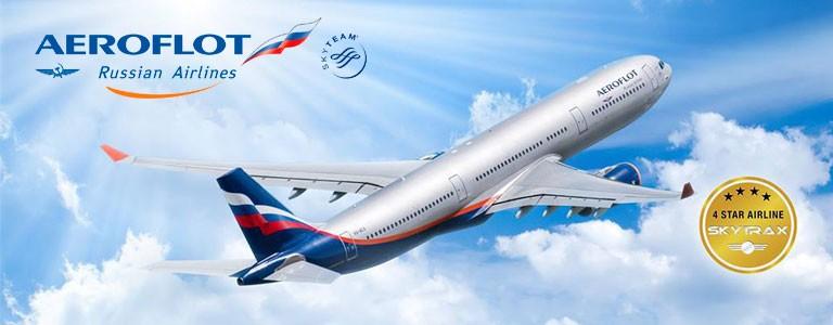 Fly 4 stjerners og komfortabelt med Aeroflot