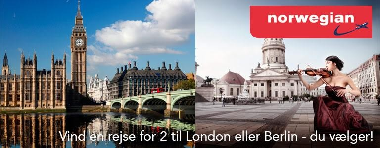 Vind en rejse for 2 til London eller Berlin