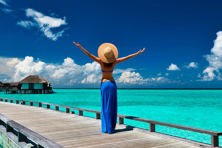Paradis på Maldivene