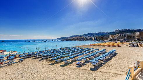 Lækker strand på Malta