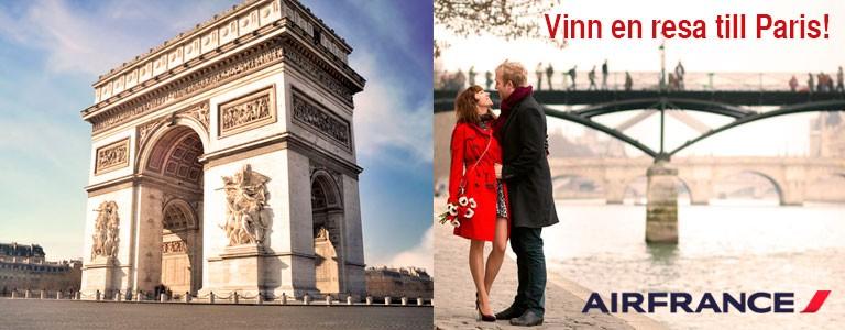 Vinn en resa för två personer till Paris