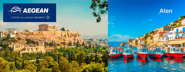 Flyg direkt till Aten tisdag, torsdag och lördag