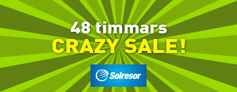 Solresor - 48 timmars crazy sale