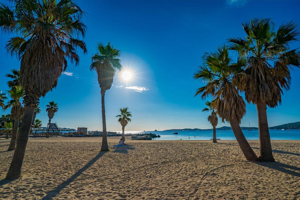 Flotte strender i St Tropez området