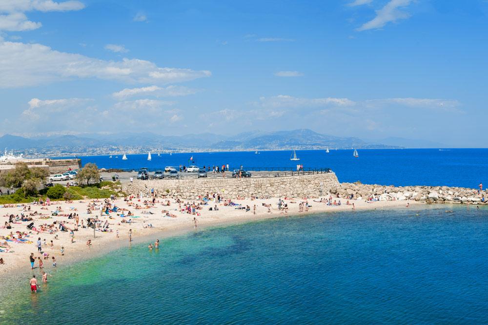 Cannes, utsikt fra La Croisette
