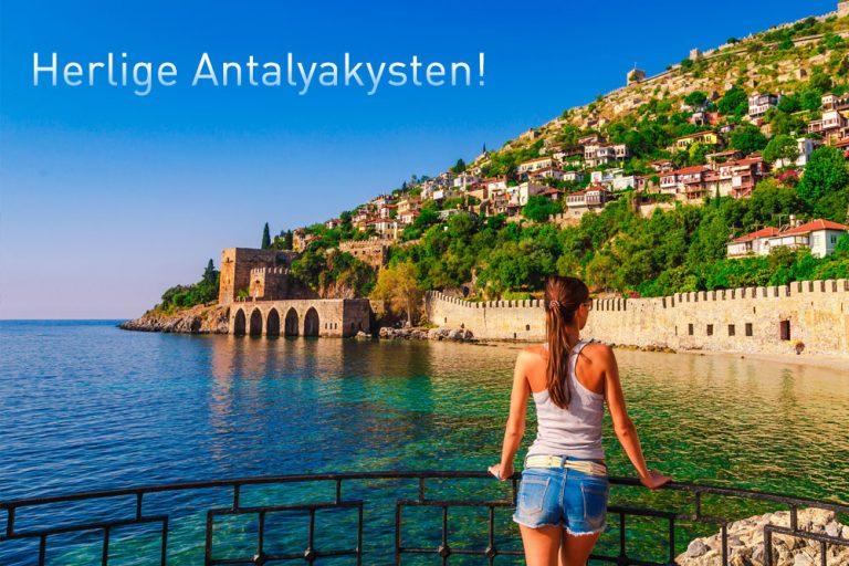 Antalyakysten - populært ferieområde i Tyrkia