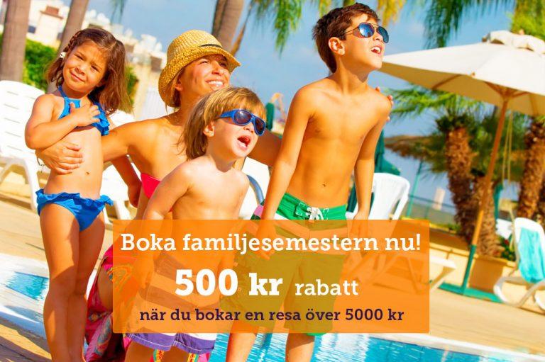 Få 500 kr i rabatt på din nästa solresa