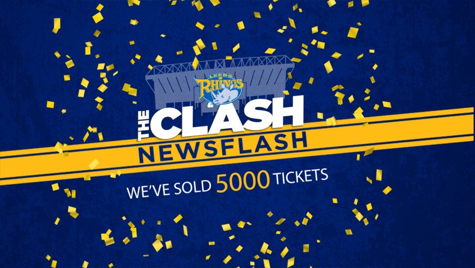 ad0d28345480 We ve sold 5000 tickets for The Clash since going on sale just over a week  ago! We randomly selected one of the 5000 fans to win a great prize to  celebrate ...