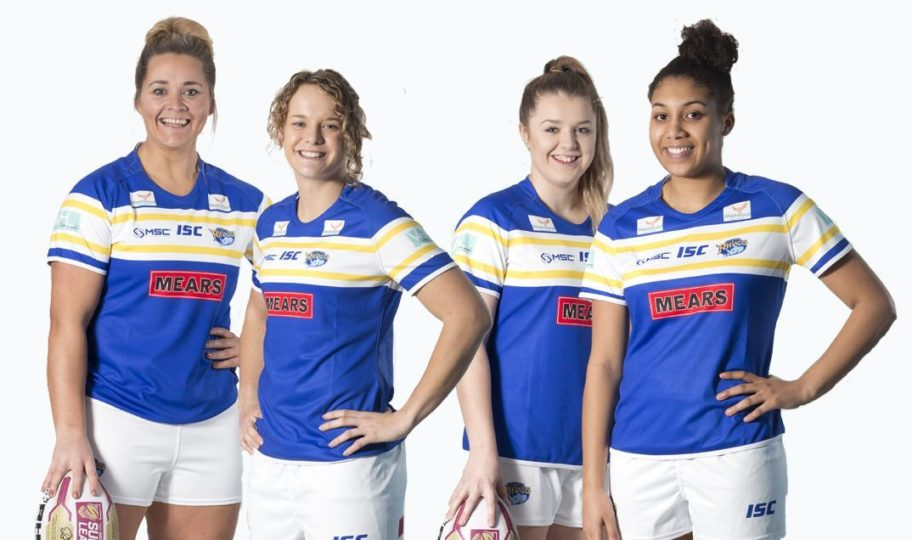 cd321442a59 Leeds Rhinos Women's team have revealed their first kit for the 2018  Women's Super League season. The kit has been specially designed for the  new team by ...