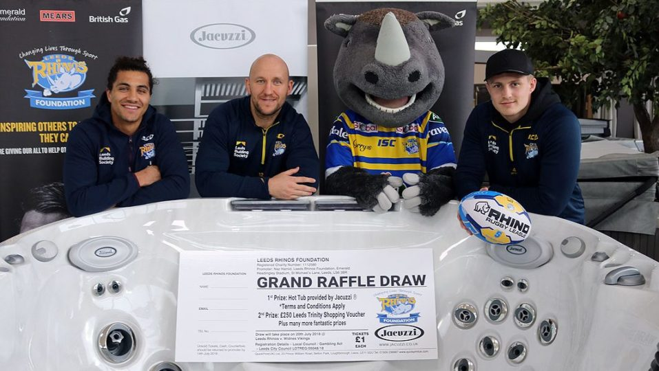 Win a Jacuzzi® Hot Tub with this year's Leeds Rhinos Foundation