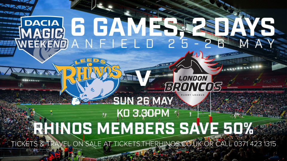 cb5a411bc6b The biggest weekend on the Super League calendar takes place in five weeks,  with the iconic Anfield stadium in Liverpool set to host the 2019 Dacia  Magic ...