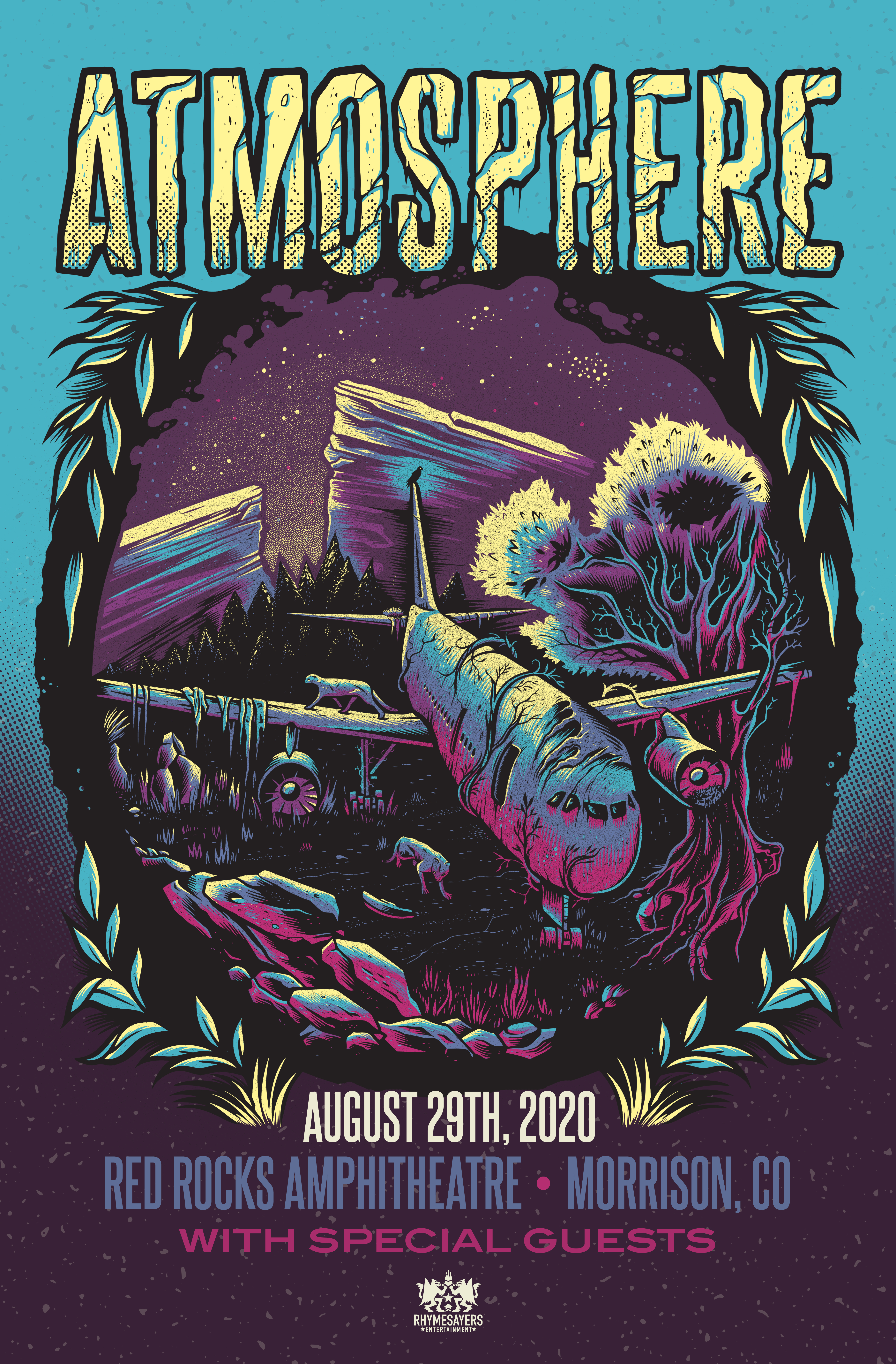 Atmosphere Red Rocks Poster Flat