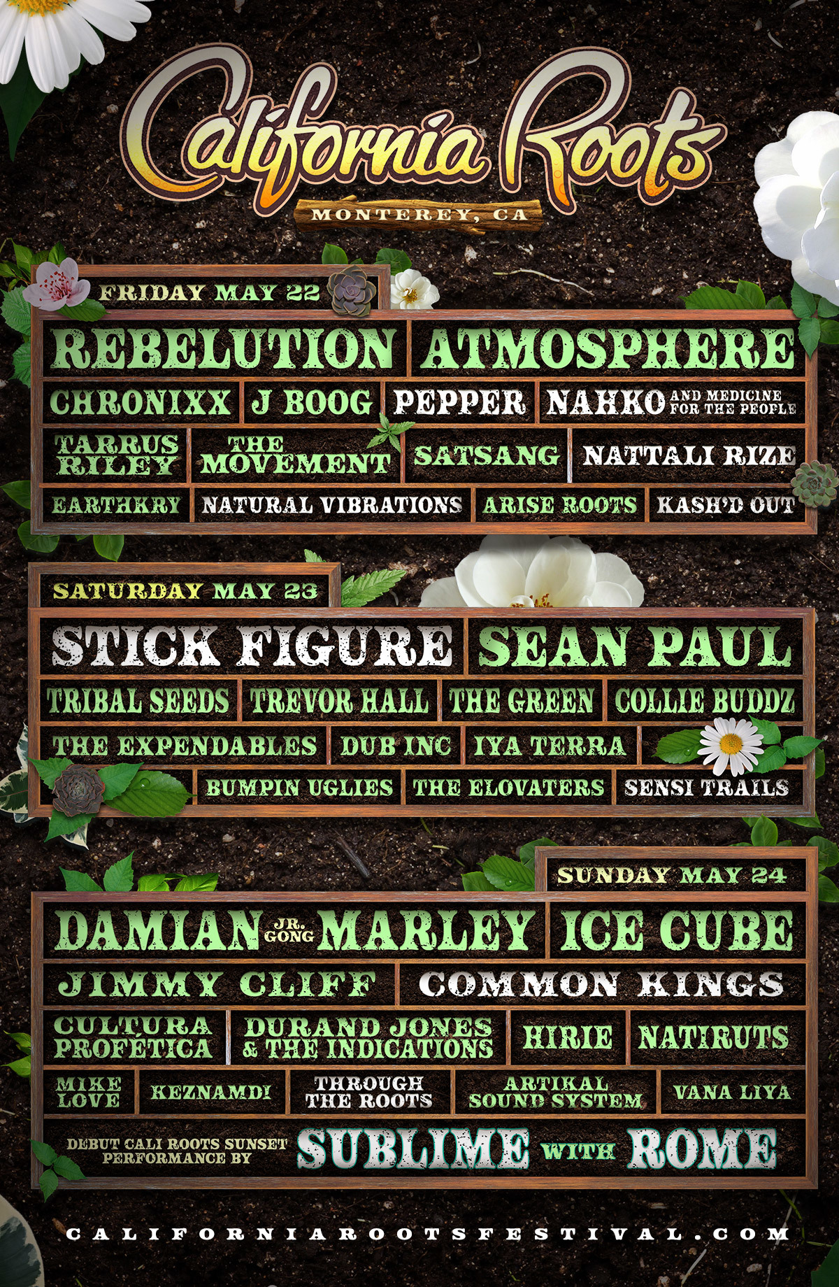 California Roots Music Arts Festival 2020 Final Announce Lineup Artwork