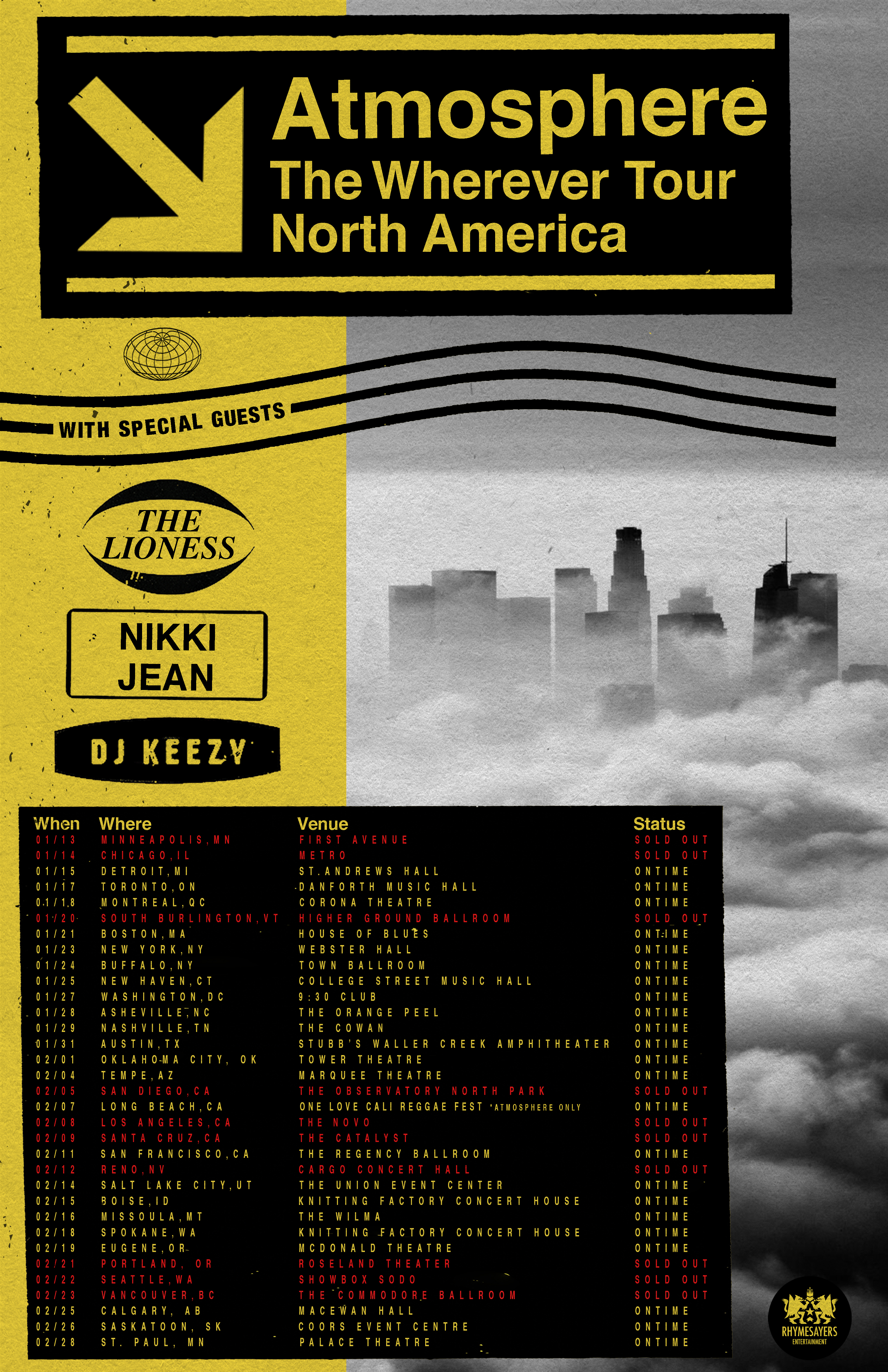 Standard Admat Wherever Tour Sold Out 11 17 19 Dates