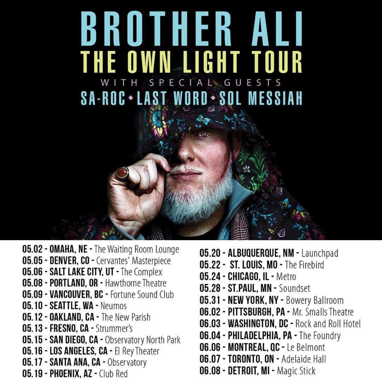 Ali Tour Dates