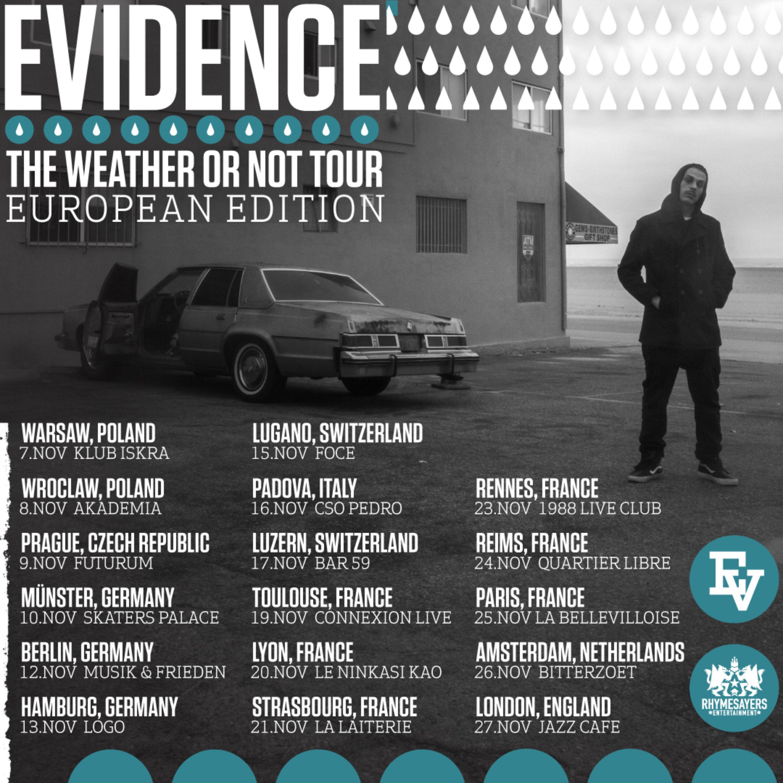 Evidence Euro Tour November