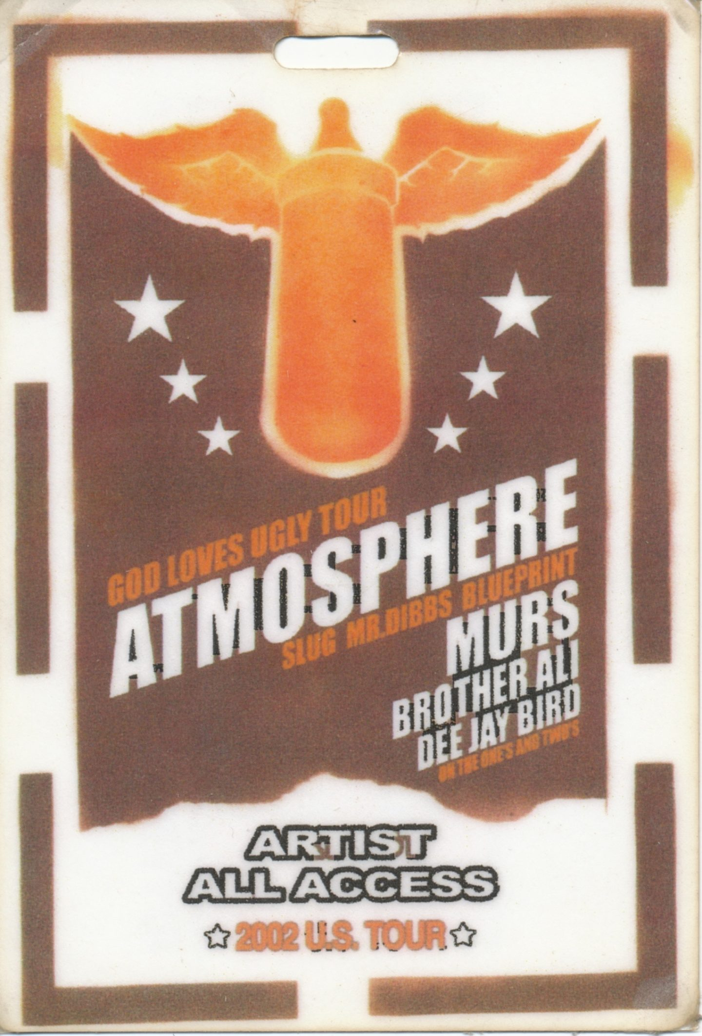2002 September 16 God Loves Ugly Tour Atmoshpere Dibbs Slug Blueprint Murs Brother Ali Jay Bird U S To