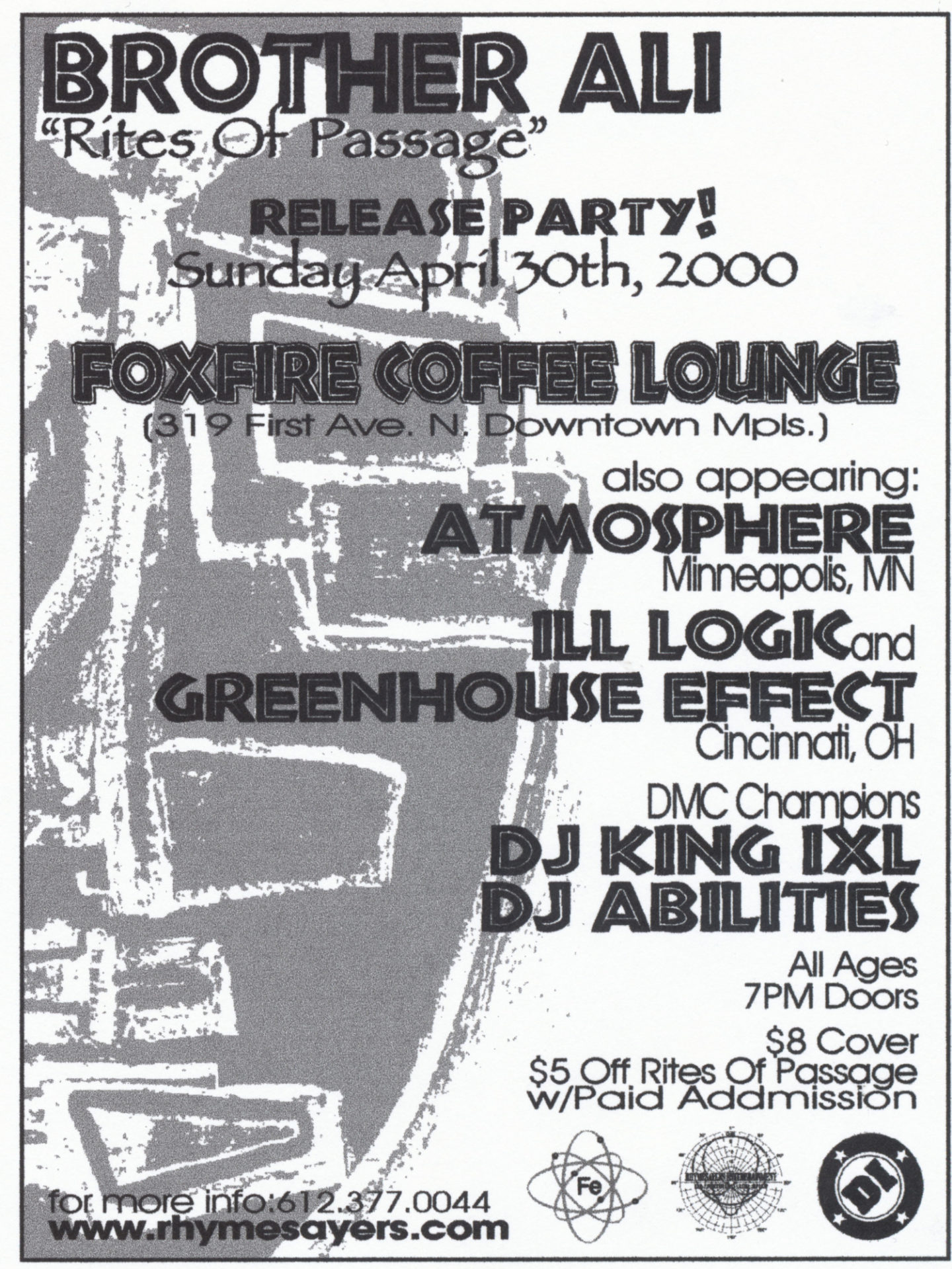 Brother Ali Release Party April 30Th 2000