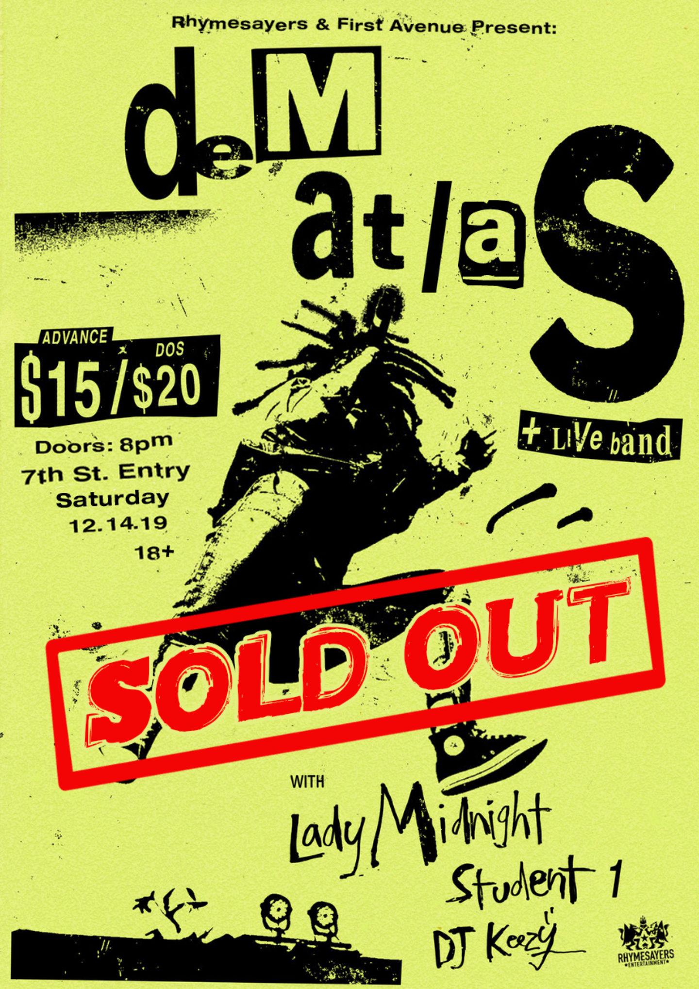 Dem Atlas Final Sold Out