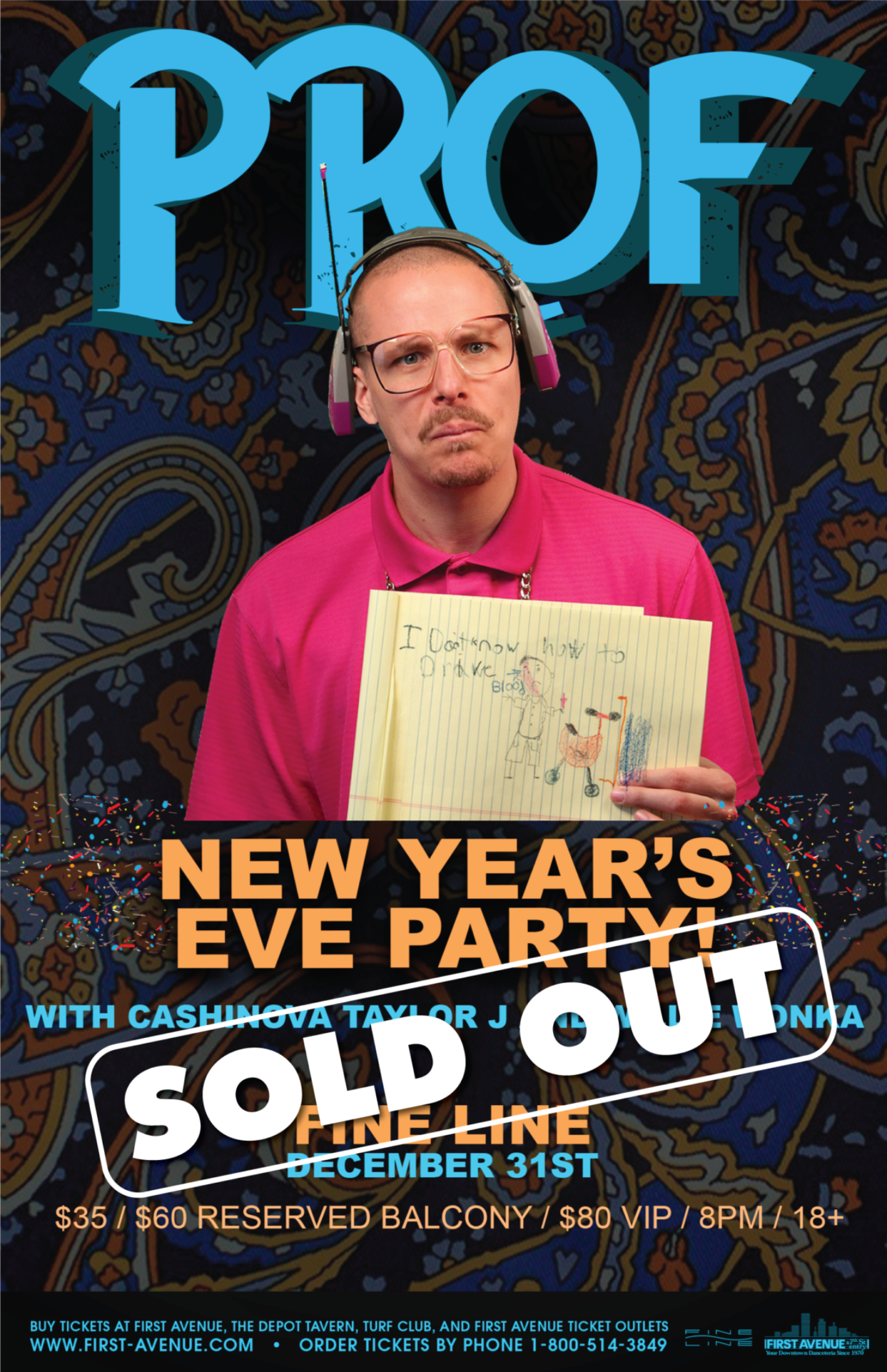 Prof Nye2019 Sold Out