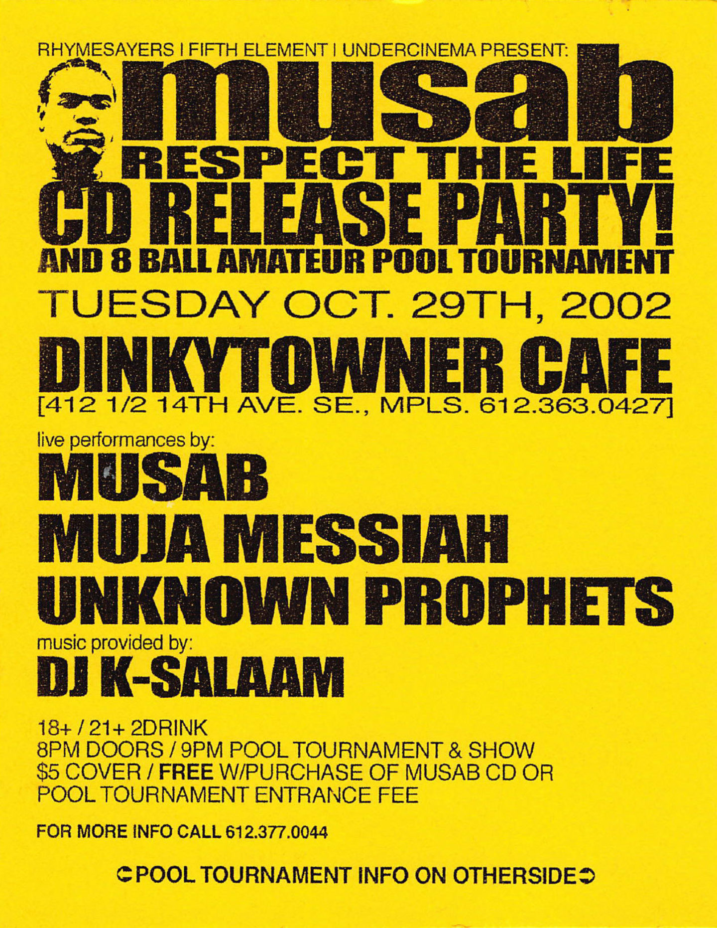 Musab Cd Release Flyer Front