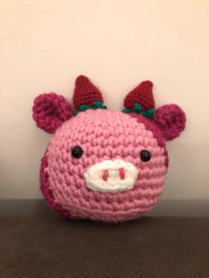 Crochet Squishmallow Strawberry Cow Pattern