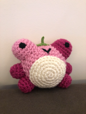 free strawberry frog pattern