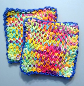 Tunisian Smocked Coasters