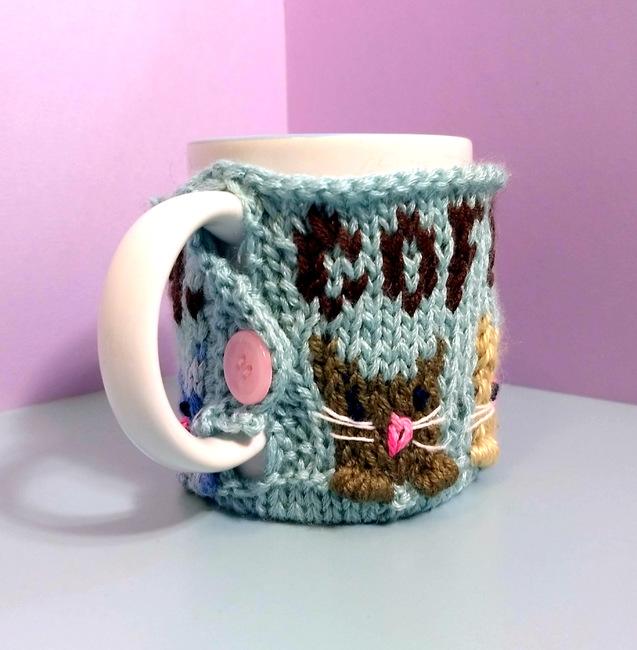 Coffee. Meow. Mug Cozy