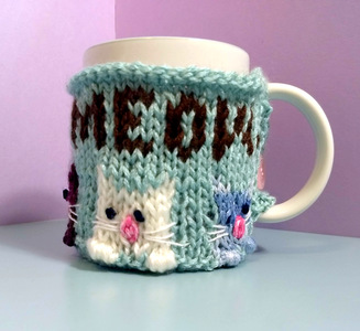Coffee. Meow. Mug Cozy