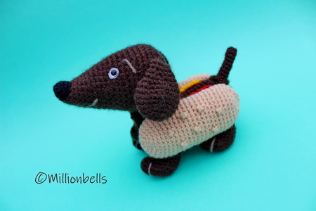Amigurumi Hot Dog - Dachshund