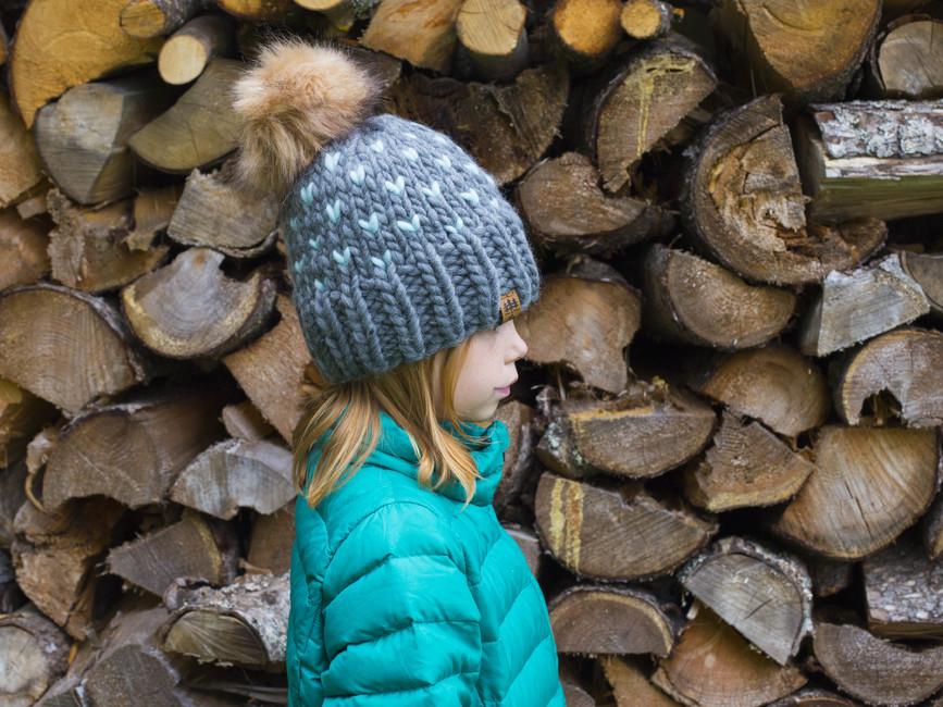 Luxury 100% Wool Fair Isle Winter Hat