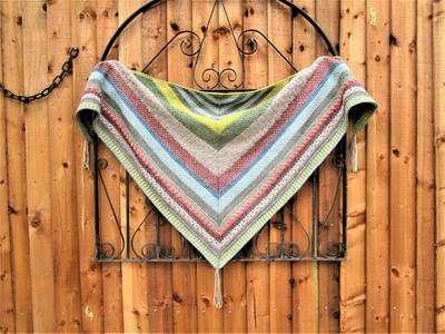 Tunisian Sampler Shawl