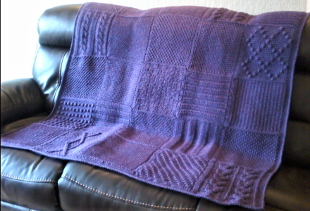 Tunisian Sampler Blanket