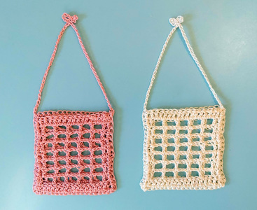 Filet Crochet Tea Bag Bag