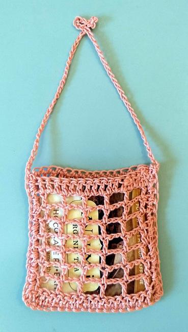 Filet Crochet Tea Bag Bag